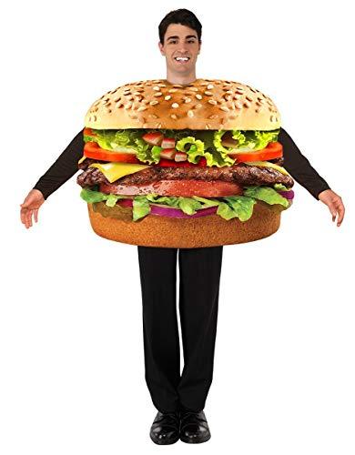 Forum 76249 Men's Hamburger Costume, One Size, Multicolor, Pack of 1 -