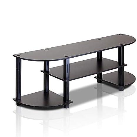 Amazon.com: Furinno 11058EX/BK Turn S Tube Wide TV Entertainment Center,  Espresso/Black: Kitchen U0026 Dining