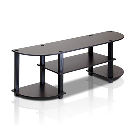 Furinno Turn-S-Tube Wide TV Entertainment Center, Espresso/Black (Glass Table Tv For)