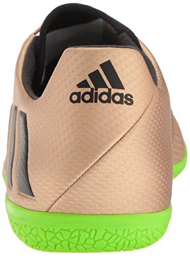 adidas Herren Messi 16.3 Hallenfußballschuh Kupfer Metallic / Schwarz / Solargrün