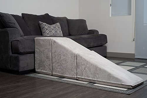 Royal Ramps 21'' Tall Pet Ramp with Landing - Platinum Gray by Royal Ramps