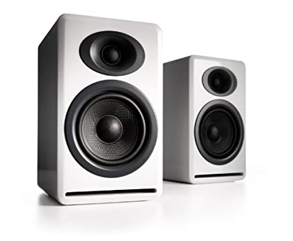Audioengine P4W Premium Passive Bookshelf Speaker White Pair