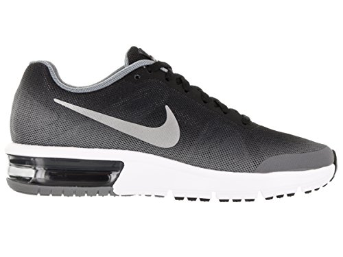 Nike Air Max Sequent (Gs), Zapatillas de Running para Hombre Negro (Negro (black/metallic silver-wolf grey-white))