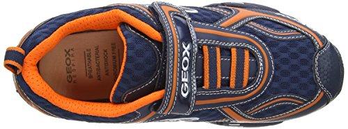 Geox J Lt Eclipse A - Zapatos para niños Azul (navy/orange)