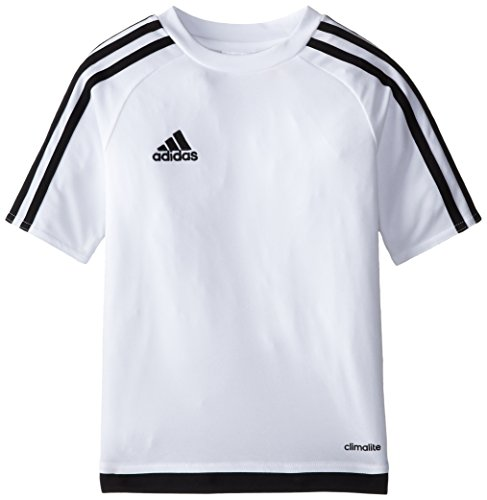 adidas Youth Soccer Estro Jersey, White/Black, Large - Youth White Football Jersey