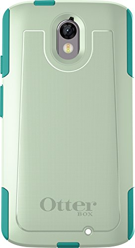 - OtterBox COMMUTER Case for MOTOROLA DROID TURBO 2 - Retail Packaging - COOL MELON (SAGE GREEN/LIGHT TEAL)