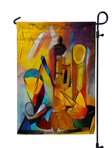 Musesh 12x18 Flag for Yard,Alternative Reproductions Famous Paintings Picasso Applied Abstract Style Kandinsky Designed a Modern Oil for Home Outdoor Decorative with Double-Sided Printing