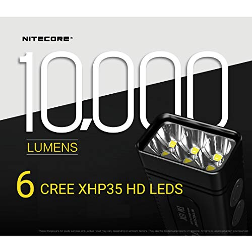 NITECORE TM10K Tiny Monster 10,000 Lumen Burst Rechargeable Flashlight with LumenTac Battery Organizer by Nitecore (Image #3)