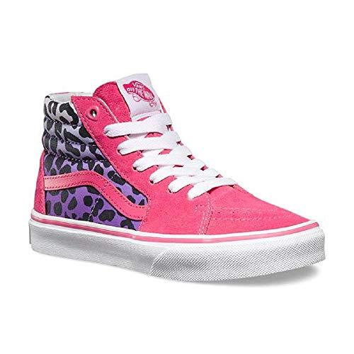 Vans Sk8 Hi Pink Posse/Cheetah Kids 10.5 -
