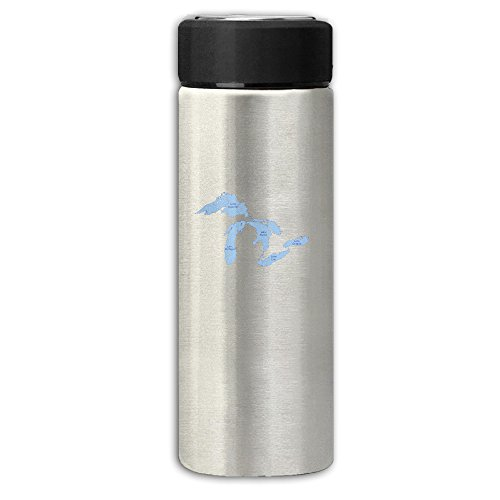 Michigan The Great Lakes State Frosting Business Thermos Flask Rustless Steel Cup,Handy Water Bottle