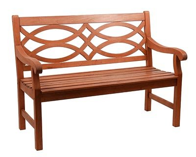Achla Designs 4-Foot Hennell Garden Bench, Natural (Colonial Bench Garden)