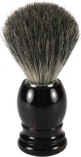 Swissco Badger Shave Brush, Tortoise Handle,