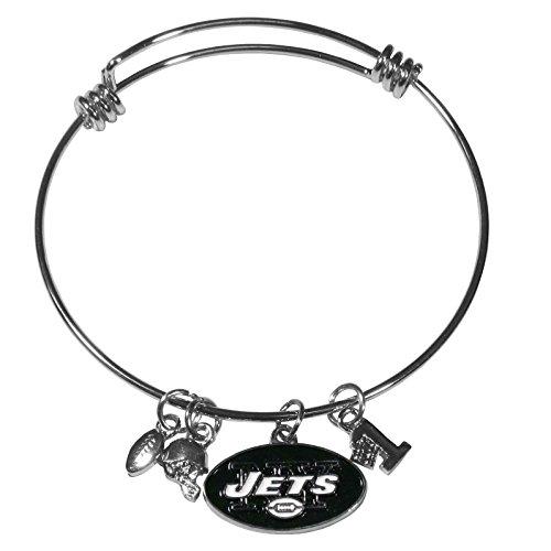 Jets Football Charm - NFL New York Jets Charm Bangle Bracelet