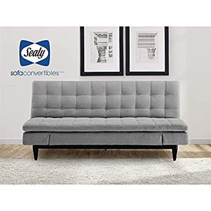 Prime Sealy Montreal Transitional Convertible Sofa With Microfiber Upholstery In Gray Ibusinesslaw Wood Chair Design Ideas Ibusinesslaworg