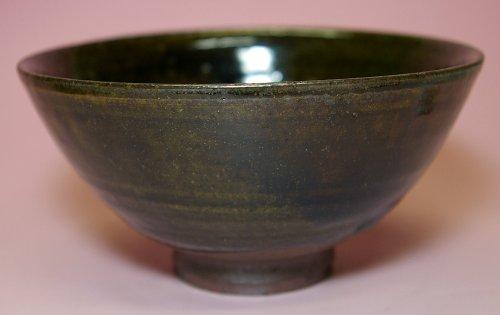 兵庫県無形文化財 森本陶谷作◆丹波立杭焼 緑釉茶碗◆ B0066HAWHM