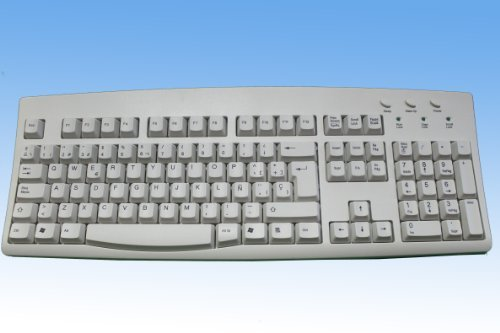 Spanish Standard Keyboard Ivory with Black Print USB PS2
