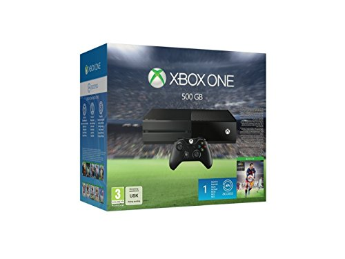 Microsoft Xbox One 500 GB Console + Kinect + Extra Controller + FREE games - Black