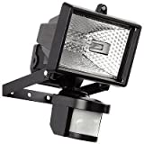 Hillington 400W Motion PIR Sensor Halogen Floodlight Security Garden Outdoor Light-Provided With A 400W C Class Halogen Bulb Which Is Shielded By Tempered Heat Resistant- Waterproof Ip56 Prote