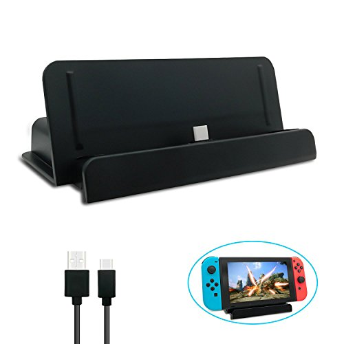 Charging Dock for Nintendo Switch, USB Type C Charging Dock Station Cradle Stand for Nintendo Switch - Black by FYOUNG