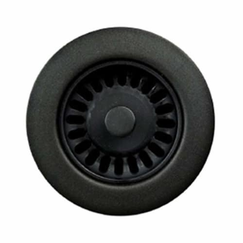 Houzer 190-9565 Disposal Flange for 3.5-Inch Drain Openings, Matte Black