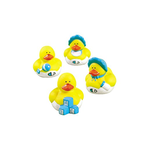 Set of 12 Baby Boy Rubber Duckys (Assortment)