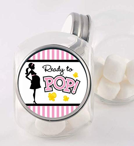 Ready to Pop Stickers for a Girl or boy Ready To Pop Baby Shower Stickers for Popcorn Classic Ready to Pop Stickers 1.67 Pink, 1.67