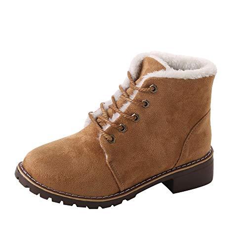 - Peize Winter Women Classic Warm Plush Martin Boots Ladies Leisure Simple Ankle Snow Boots Lace-Up Shoes