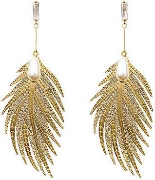 Colorful Bohemian Feather Dangle Drop Earring Gifts for Women Girls Jewelry000001001507