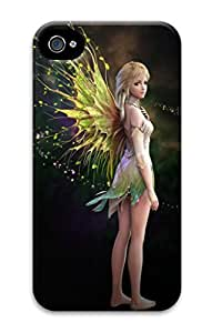 3D Hard Plastic Case for iPhone 4 4S 4G,Fairy Case Back Cover for iPhone 4 4S
