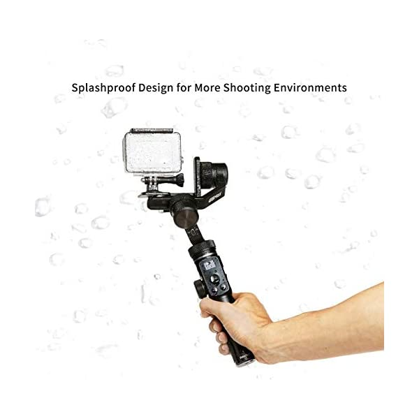 FeiyuTech G6 Max Stabilizzatore Gimbal per Mirrorless Smartphone Sports Camera Sony a6500, RX100, Gopro 9 8 7 6 5, Smartphone iPhone 11 Pro Max Huawei P30 P20+ Samsung s10+,1.2Kg Payload, Splash Proof 6 spesavip