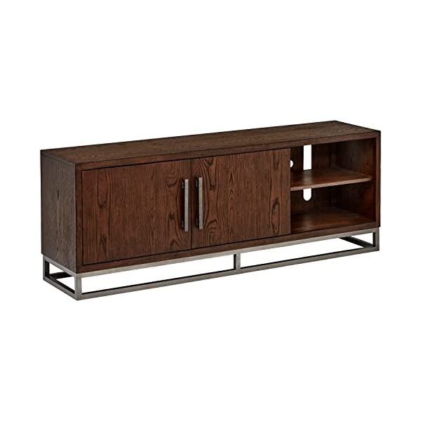"Amazon Brand – Stone & Beam Glenwood Entertainment TV Console Media Stand, 68""W, Oak"