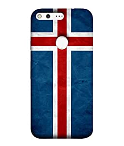 ColorKing Football Iceland 01 Blue shell case cover for Google Pixel XL