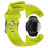 TUSITA Replacement Silicone Strap WristBand Accessory for Suunto Core All Black Military with Screen Protector(Green)