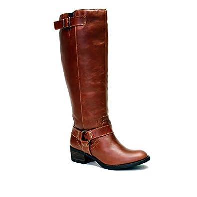 dc8669a15824 VESTITURE Women s Alamo Extra Wide Calf Riding Boot 12M US Cognac