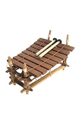 8 Key Pentatonic African Xylophone Balafon Balaphone - Ghana Gyli with mallets from Africa Heartwood Project .org