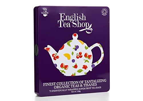 English Tea Shop Assorted Super Fruits Gift Box, 72 Tea Bags by English Tea Shop