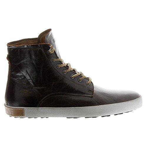 Blackstone Schoenen Heren Im10 Fashion Sneakers Mogano Volnerf Leer