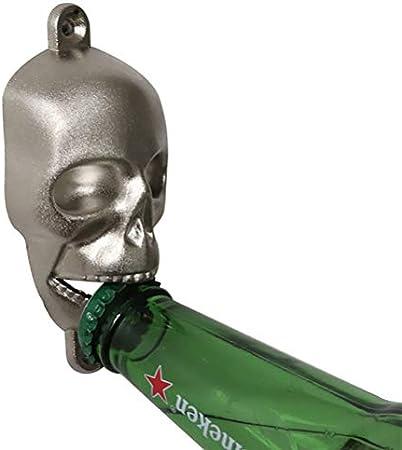 NIVNI Sacacorchos, abrebotellas de Cerveza Creativa montada en la Pared Abrebotellas con Forma de Esqueleto para Regalo