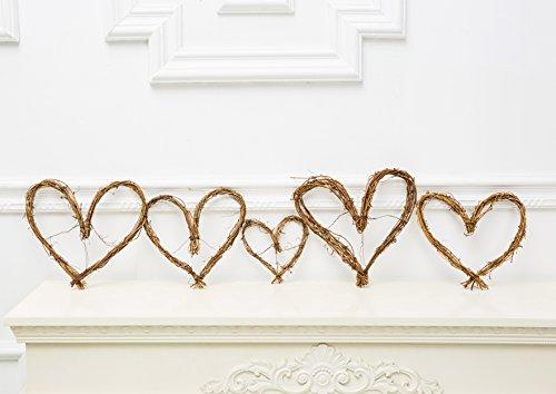 Rustic Bridal Shower Decor, Vine Garland heart, set of 3 pieces