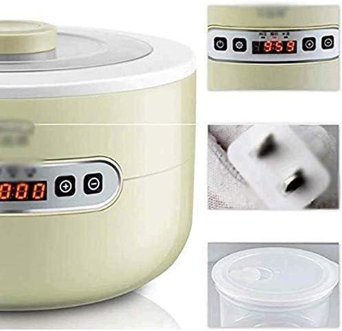 Machine de yaourt de maison, ménage petit fermentation du vin automatique multifonctionnel riz maison vitre de natto, vert