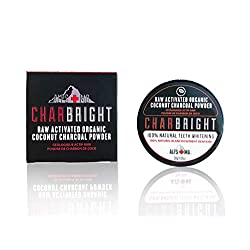 CHARBRIGHT Organic Activated Charcoal Teeth Whitening Powder With Coconut By ALPS MD   100% Food-Grade Raw Charcoal For Better Oral & Dental Hygiene   Charcoal Powder For Teeth & Gums [Flavorless]