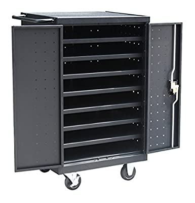 """Pearington 12 Bay Rolling, Charging Cart Station for Classroom and Office- For use with Chromebooks, iPad, Tablets and Laptop Computers; Secure Locking Cabinet Storage-Store up to 16"""" Size Electronics"""