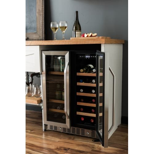 EdgeStar CWB1760FD 24 Inch Built-In Wine and Beverage Cooler with French Doors by EdgeStar (Image #5)