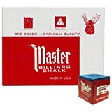 3 Packs (36 Count) Blue Master Pool Cue Chalk
