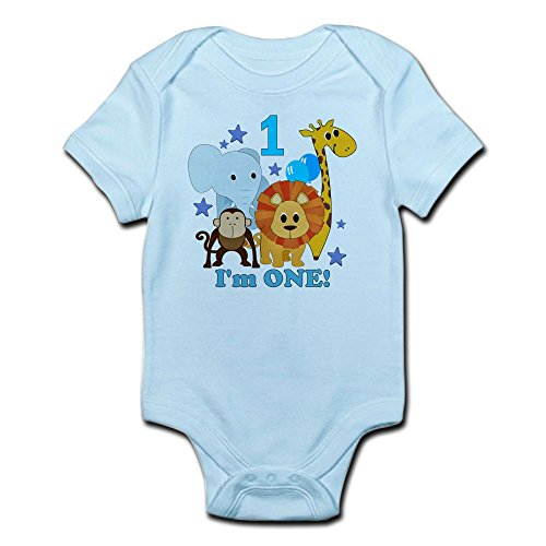 Jungle Bodysuit - CafePress First Birthday Jungle Body Suit - Cute Infant Bodysuit Baby Romper