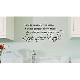 Love is patient love is kind wall art vinyl | Do-it-yourself.Store