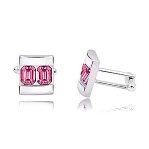 Gemelos con cristales rosas Swarovski