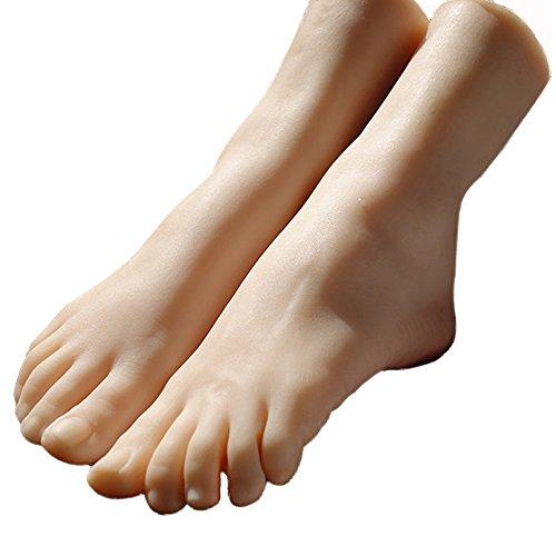 足模型 21CM 女の子・足素敵 細め 超・リアル 女性 実物大 シリコン 足模型 フートトルソー フートマネキン 足トルソー 足マネキン 3D 教学用 練習モデル (両足)