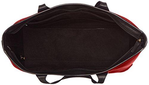Piquadro Shopping Bag Collezione Antilias Borsa a spalla, Pelle, Rosso, 36 cm