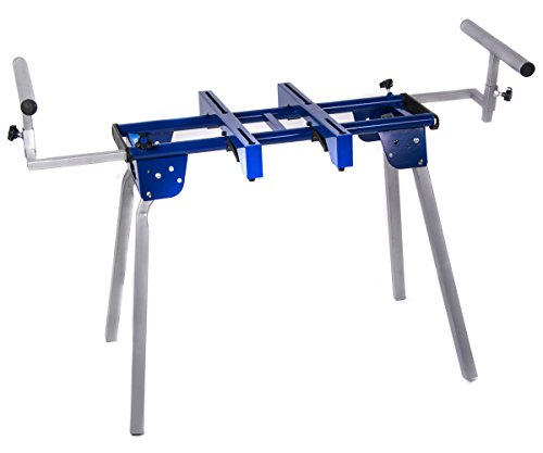 HICO UWC4000 Compact Folding Miter Saw Stand with Machine Mounts and Material Roller Supports